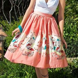 PUG Pinup Girl Jenny Skirt L Blaire Umbrella Print